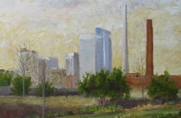 View from Railroad Park